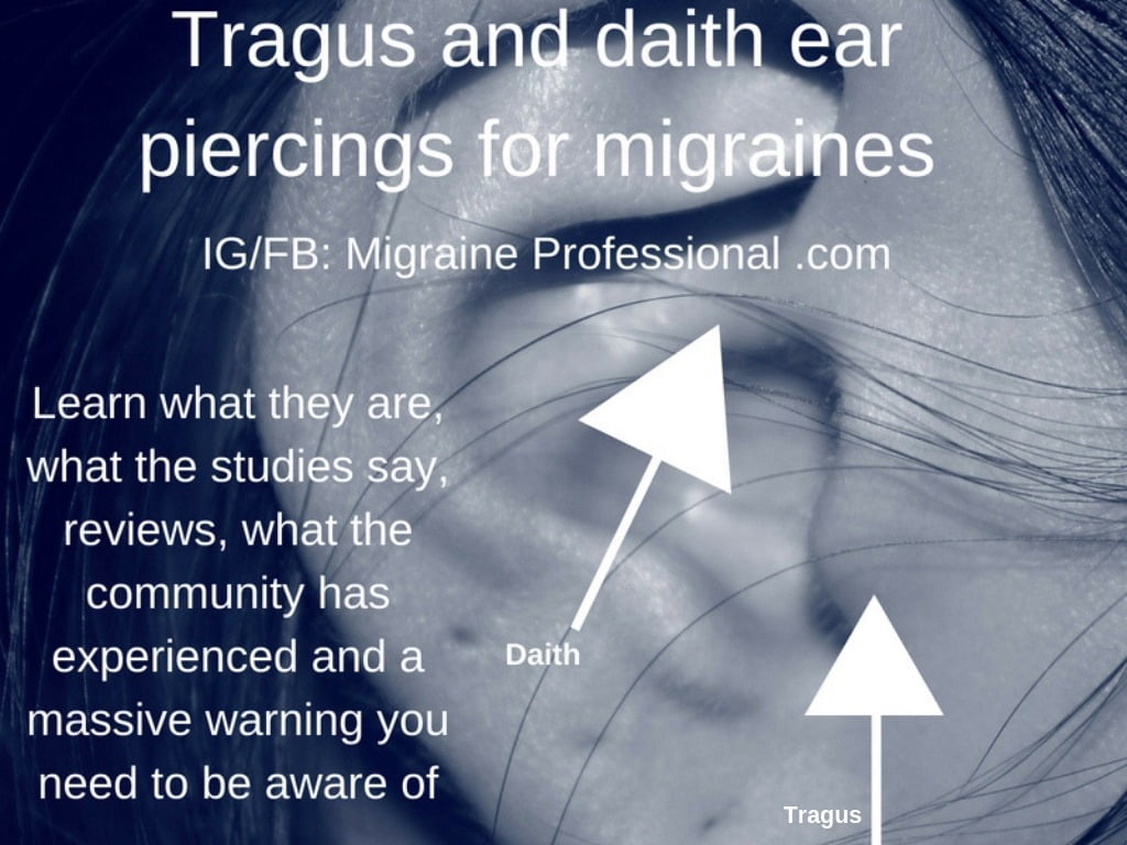 Tragus and daith ear piercings for migraines with reviews