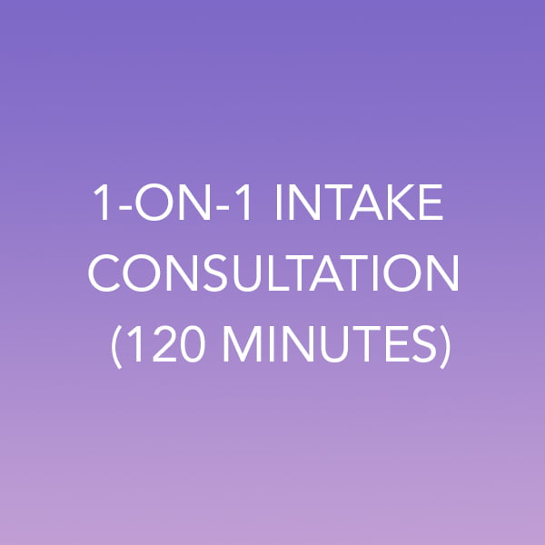 1-on-1 Intake Consultation (120 Minutes) (CAD$)