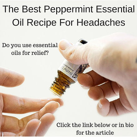 #1 Best peppermint essential oil recipe for headaches